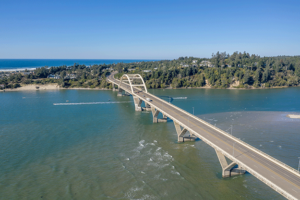 Alsea Bay Bridge, Waldport Oregon.