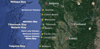 Oregon Bay Clam Map