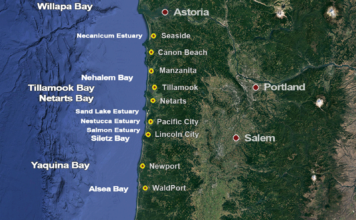 Oregon Bay Clam Map