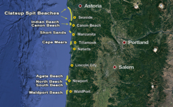 Oregon Razor Clam Map