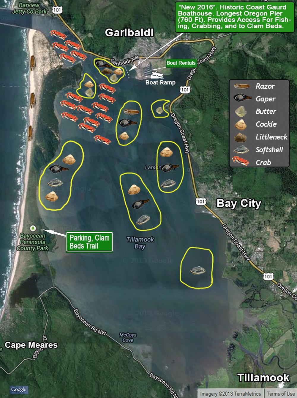 Tillamook Bay at Garibaldi Map
