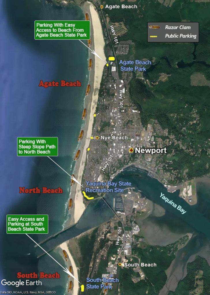 Agate Beach, North Beach, South Beach