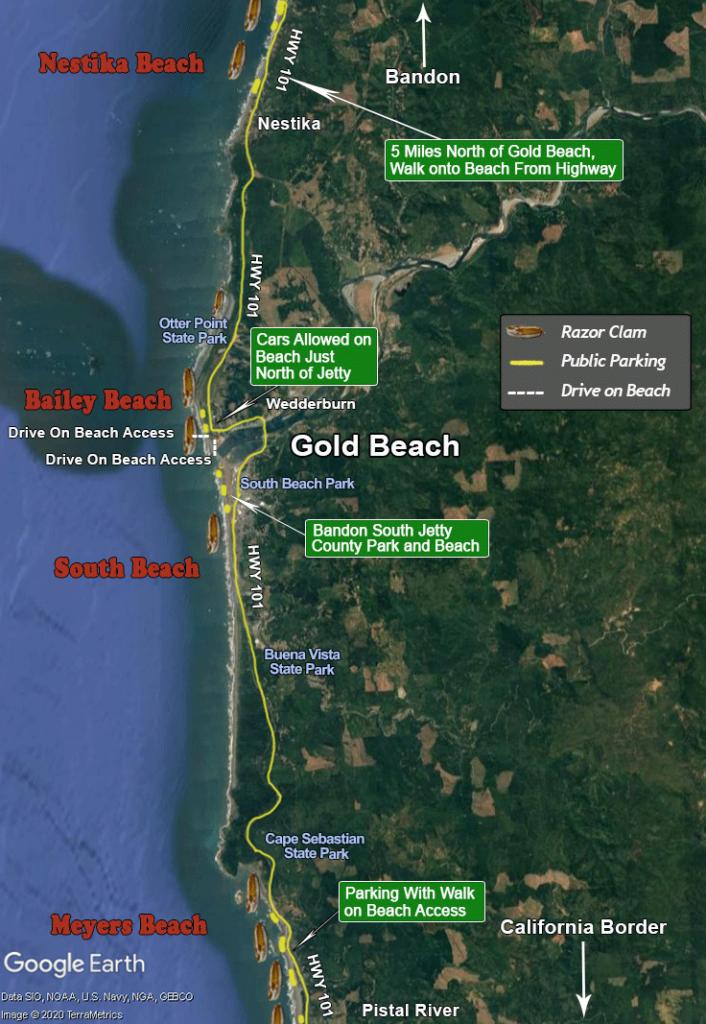 Gold Beach, Bailey Beach, Meyers Beach