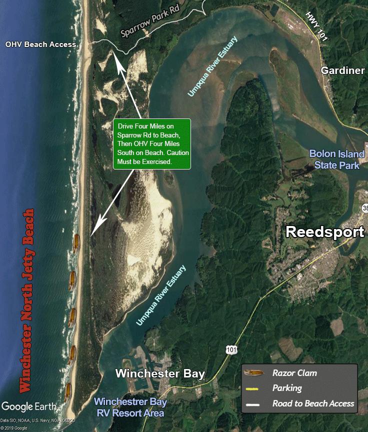 Winchester Bay Beach